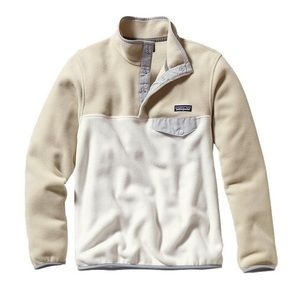 Patagonia Cream/Tan Fleece Synchilla Pullover L